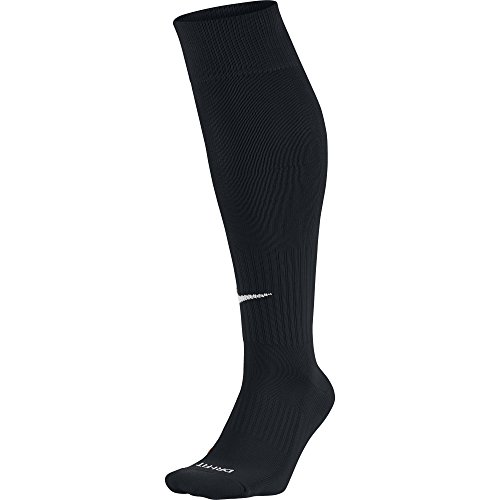 e-Calf Soccer Socks, Unisex Athletic Socks with Sweat-Wicking Dri-FIT Technology, Black/White, L ()