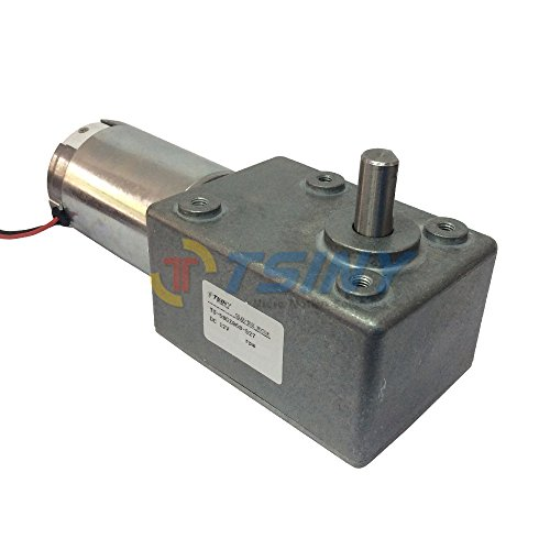 TSINY High Torque DC 12V Reversible Geared Reducer DC Motor with 9RPM Speed 10mm Out Shaft