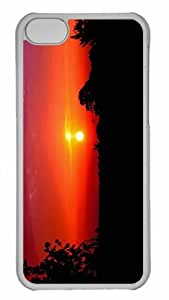 Customized iphone 5C PC Transparent Case - Dawn Personalized Cover by runtopwell