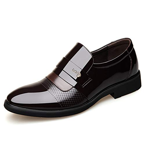 Mens Oxford Shoes Pointed Toe Breathable Non-Slip Business Formal ()