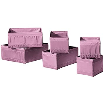 Ikea Skubb Storage Box Set Of 6, Drawer Organizers, Purple, Multi Use