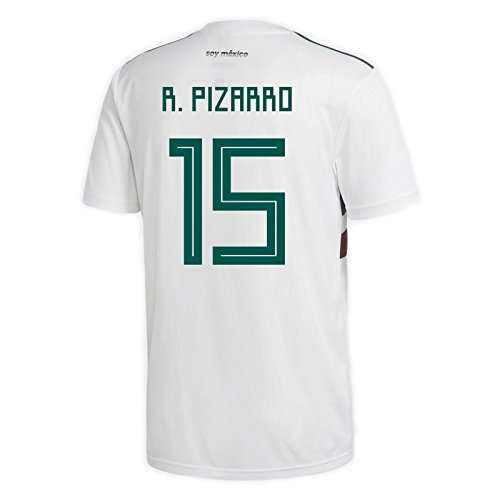(adidas R. PIZARRO #15 Mexico Away Men's Soccer Jersey World Cup Russia 2018 (S))
