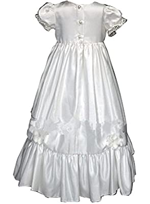 TOBewonder Flower Embroidery Girls Christening Dress Belt Sash for Formal Occation