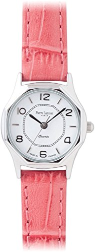 PIERRE LANNIER press watch octagonal Watch Silver / Croco salmon pink P043604 C57 Ladies