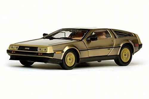 1981 De Lorean DMC-12 Coupe, Gold - Sun Star 2702 - 1/18 Scale Diecast Model Toy Car