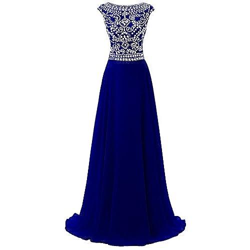 Royal Blue and Gold Dress: Amazon.com