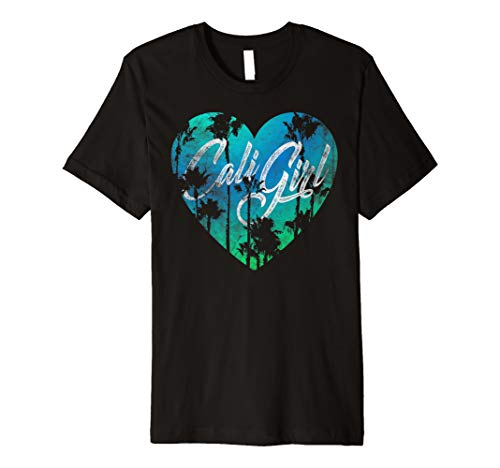 Women's Vintage California Shirt Cali Girl Summer Beach Tee