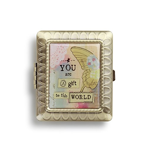 Demdaco Gift to This World Rectangle Compact Mirror