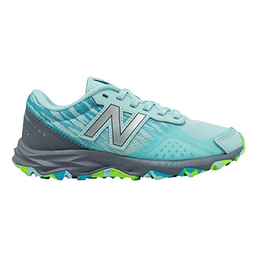 (New Balance Girls' 690 V2 Running Shoe, Blue 1/Grey, 7 M US Big)