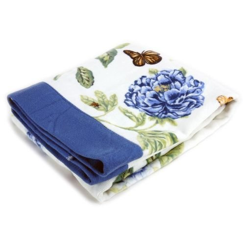 Lenox Bath (Lenox Printed Bath Towel, Blue Floral Garden)