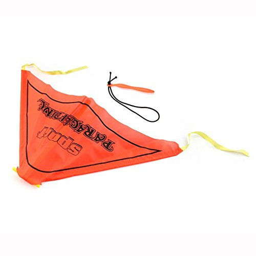 Inverlee Kids Paragliding Flying Hang Glider Set Launch Catapult Slingshot Outdoor Toy (Orange)