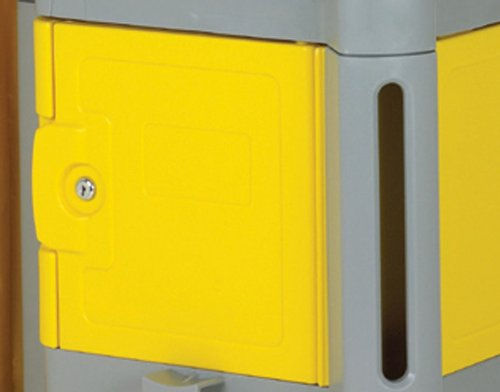 Continental 187YW, Yellow Locking Compartments for 184/186 Cart (Case of 1)