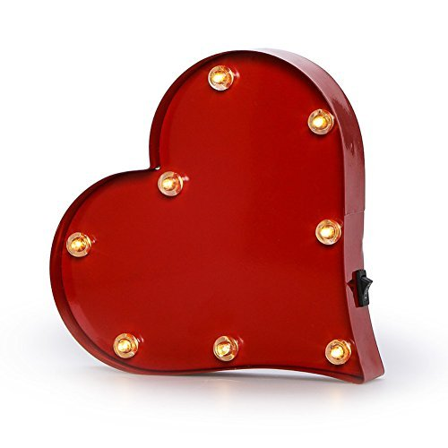 Metal LED Lighted Heart Marquee Sign