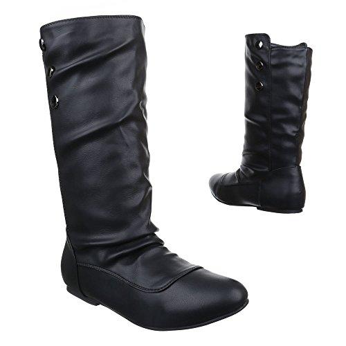 Ital-Design - botas clásicas Mujer negro