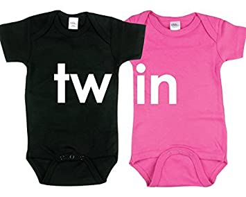 986b936835ed7 Amazon.com: Onesies for Twins, Includes 2 Bodysuits, 3-6 Month TW IN ...