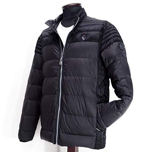 明るいアイデア溶岩40499 秋冬 薄手 ダウン ブルゾン ブラック(黒) サイズ 46(M) CAPRI カプリ 紳士服 メンズ 男性用
