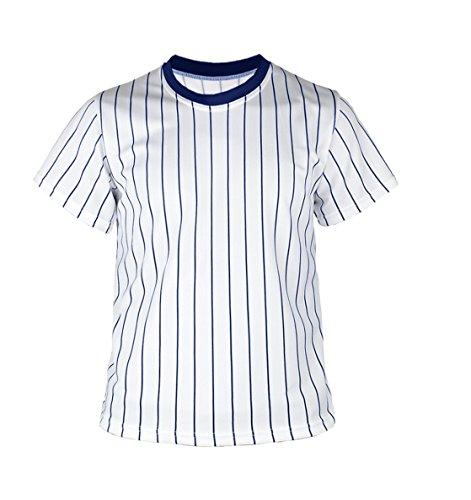 myglory77mall Crewneck Pinstripe Baseball Coolmax Dryfit tshirts Jersey US XS(S tag) Cobalt
