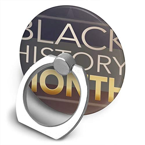 Yuotry 360 Degree Rotating Ring Stand Grip Mounts Black History Month Universal Phone Ring Bracket Holder Smartphone Ring Stent -