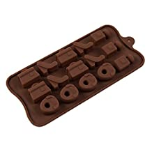 MOLDIY 15 Cavity High Heeled Shoes Bags Shape Food-grade Silicone Cake Chocolate Baking Mold for Microwave Oven