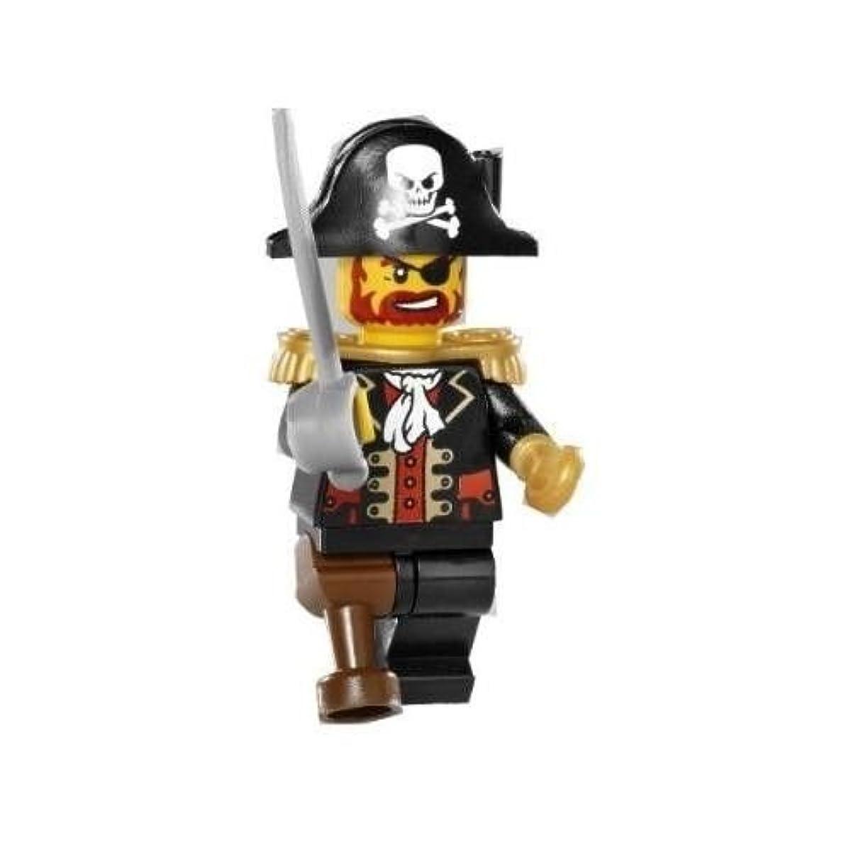 [해외] LEGO 파이럿 캡틴 brick 비어―드 레드 비어―도 미니 피규어 (2009).