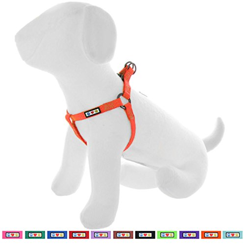 Pet Comfort Control Harness (Pawtitas Pet Solid Color Step In Dog Harness, Step in or Vest Harness, Comfort Control, Training Walking of your Puppy/Dog Medium Dog Harness M Dog Harness Orange)