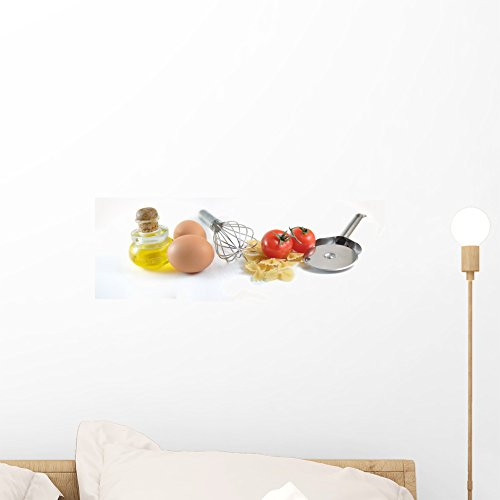 Wallmonkeys Pastes and Tomatos Wall Decal Peel and Stick Graphic WM115343 (18 in W x 7 in H) ()