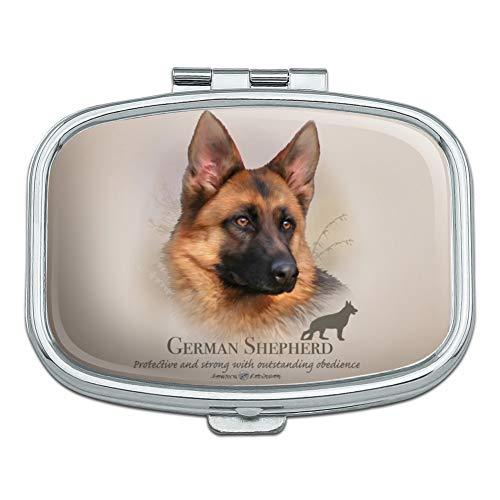 German Shepherd Dog Breed Rectangle Pill Case Trinket Gift ()