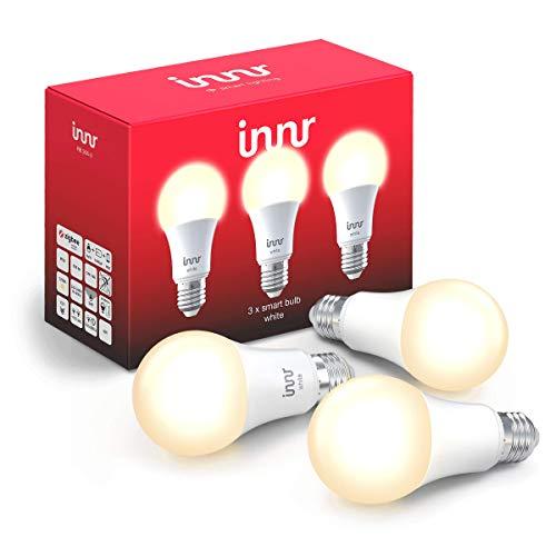 Innr E27 Smart LED-lamp, warm wit licht, werkt met Philips Hue*, Google Home & Alexa (bridge vereist) dimbaar, 2700K, 3…