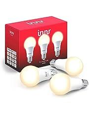 Innr E27 Smart LED-lamp, warm wit licht, werkt met Philips Hue*, Google Home & Alexa (bridge vereist) dimbaar, 2700K, 3-Pack , RB 265-3
