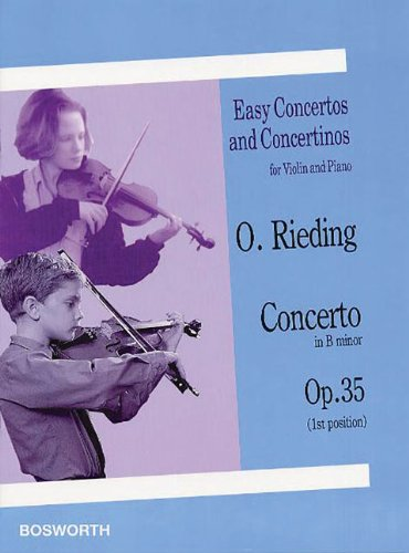 EASY CONCERTOS AND CONCERTINOS FOR VIOLIN AND PIANO CONCERTO IN B MUNOR OP.35 (1ST POS)