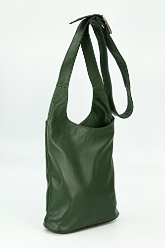 Pelle Tracolla Verde Marrone Belli Donna In WzFqxAn8w4