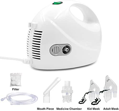 TT-Star Portable Compressor System Personal Cool Mist Inhaler kit with Universal Tubing 2 Masks for Adults and Kids