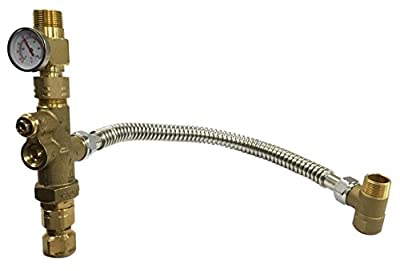 Cask1|#Cash Acme 24644 Cash MIX02020LF Lead Free Heat Guard Tank Booster Pro Water Heater Mixing Valve