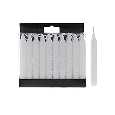 """Mega Candles - Unscented 4"""" Mini Chime Ritual Spell Taper Candle - White, Set of 20"""