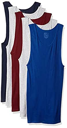 Fruit of the Loom Mens 5P2601C Men's Dual Defense Assorted A-Shirts Tanks Base Layer Top - Multi - Small