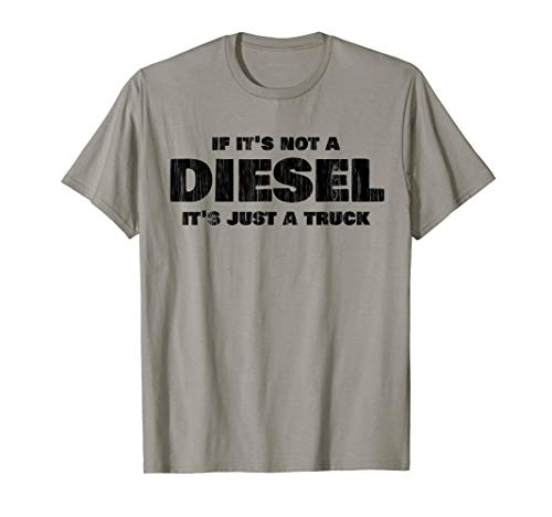 - Diesel Truck T-Shirt - Distressed Shirt Design