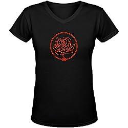 Ryan Adams Iiiiv World Tour 2016 Women's V-Neck T Shirts Black
