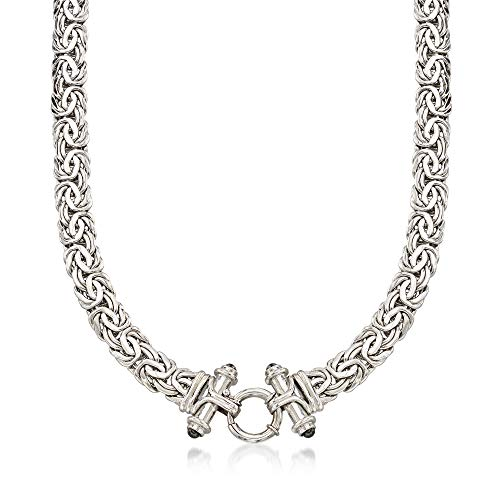 Ross-Simons Black Onyx Byzantine Necklace in Sterling Silver