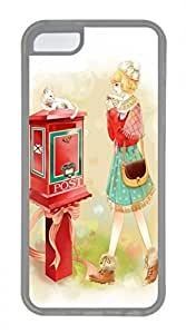 iPhone 5c case, Cute The Letter Of The Girl iPhone 5c Cover, iPhone 5c Cases, Soft Clear iPhone 5c Covers