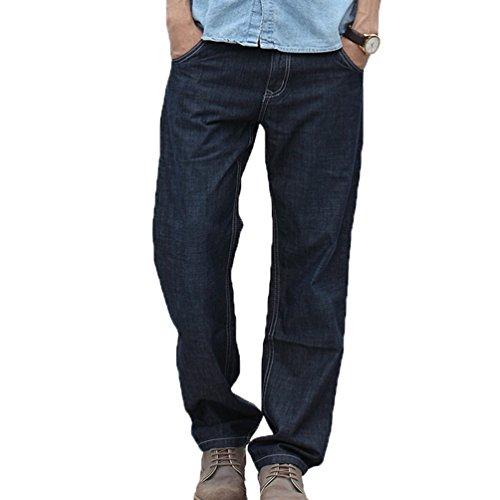 Styles Niseng Casual Droit Jeans Baggy Pantalon Hommes En Marine Denim Minces Mode Cow Vrac boy Bleu xSSZ8