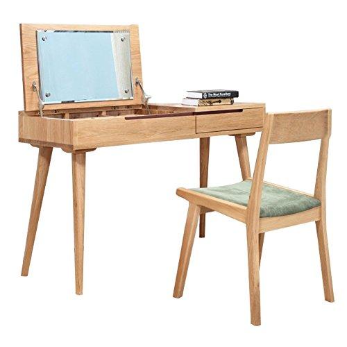 Zerun chinese oak soild wooden fold elegant vanity desk for Oak makeup table