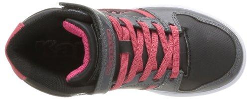 Kappa Lobya Elastic Velcro, Mädchen Sneaker Schwarz - Noir (Black/Dk Grey/Hot Pink)