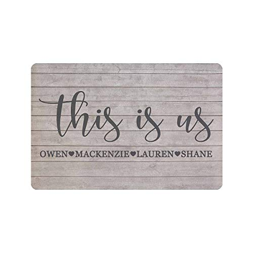 Custom Door Matts Outdoors This is Us Personalized Door Mat Text Name (Personalized Mats Front Outdoor Door)