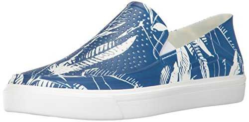 Crocs Men's Citilane Roka Tropical Slip-on Fashion Sneaker, Blue Jean/White, 11 M US by Crocs