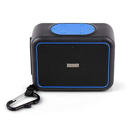 iHome Rugged Portable Waterproof Shockproof Dustproof Bluetooth Stereo Speaker with Speakerphone, LED Indicators, iBT35, Black (Non-Retail Packaging)
