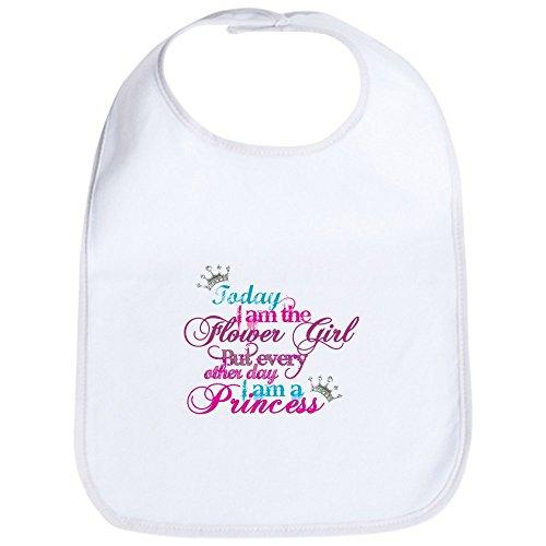 CafePress - Today I Am A Flower Girl Bib - Cute Cloth Baby Bib, Toddler Bib