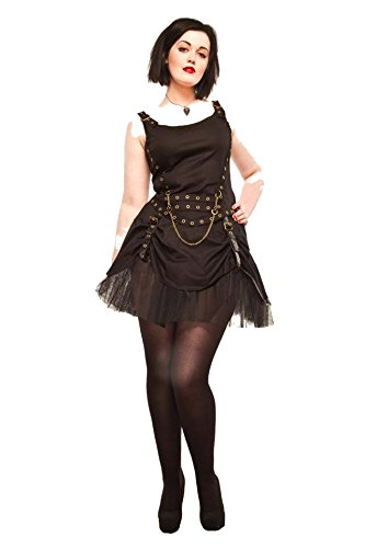 [Size 6/8 Ladies Steampunk Gothic Victorian Rouched Skirt with Net Petticoat] (Larp Costumes Uk)