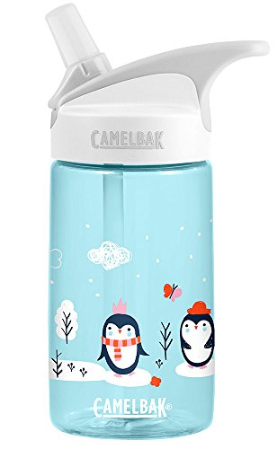 Penguin Bottle - CamelBak Eddy Kids Sweet Penguins Water Bottle, Blue.4L