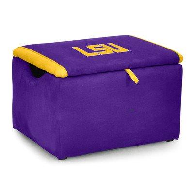 Kidz World Upholstered Storage Bench Toy Box Louisiana State University by Kidz World