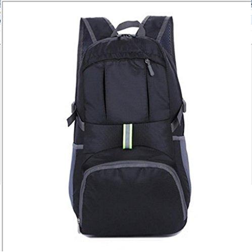 BUSL De gran capacidad exterior del paquete del alpinismo del recorrido del hombro de nylon impermeable del paquete de admisión bolsa plegable 35L . orange Black